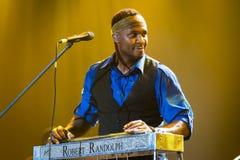 Festival 2014 de los azules de Rawa: Robert Randolph y la banda de la familia Foto de archivo libre de regalías