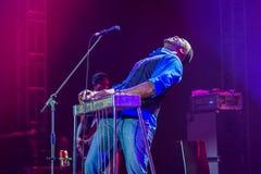 Festival 2014 de los azules de Rawa: Robert Randolph y la banda de la familia Fotos de archivo libres de regalías
