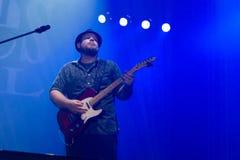 Festival 2014 de los azules de Rawa: Shawn Holt y las lágrimas Foto de archivo libre de regalías