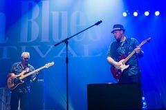 Festival 2014 de los azules de Rawa: Shawn Holt y las lágrimas Fotos de archivo