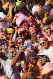 Festival de los colores Holi a Barcellona Fotografia Stock Libera da Diritti