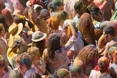 Festival de Los Colores Holi in Barcelona Stockfotografie