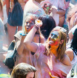 Festival de los colores Holi in Barcelona Royalty Free Stock Photo
