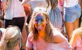 Festival de los colores Holi in Barcelona Stock Images