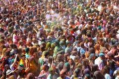 Festival de los colores Holi in Barcelona Stock Image
