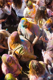 Festival de los colores Holi in Barcelona Stock Photography