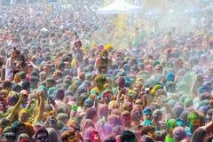Festival de los colores Holi in Barcelona Stock Photo