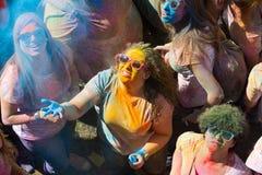 Festival de los colores Holi in Barcelona Stock Photos