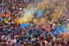 Festival de los colores Holi in Barcelona Stock Photography