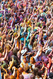 Festival de los colores Holi in Barcelona Stock Photo