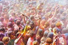 Festival de los colores Holi in Barcelona Royalty Free Stock Images