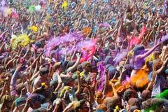 Festival de los colores Holi in Barcelona Royalty Free Stock Photography