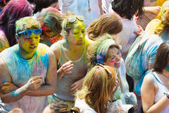 Festival de los colores Holi in Barcelona Royalty Free Stock Photography