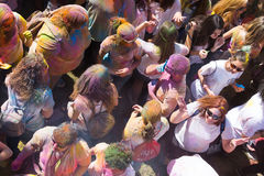 Festival de los colores Holi in Barcelona Stock Photos