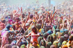Festival de los colores Holi in Barcelona Royalty Free Stock Image