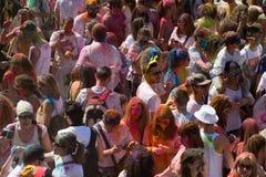 Festival de los colores Holi in Barcelona Royalty Free Stock Photo
