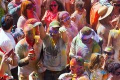 Festival de los colores Holi in Barcelona Royalty Free Stock Photos