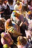 Festival de los colores Holi em Barcelona Fotografia de Stock
