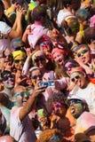 Festival de los colores Holi en Barcelona Foto de archivo libre de regalías