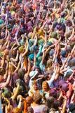 Festival de los colores Holi en Barcelona Foto de archivo
