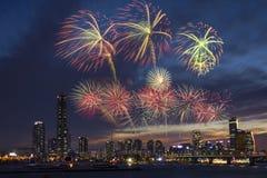 Festival de los fuegos artificiales Foto de archivo libre de regalías