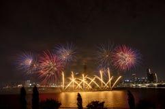 Festival de los fuegos artificiales Imagen de archivo libre de regalías