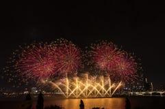 Festival de los fuegos artificiales Imagen de archivo