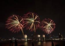 Festival de los fuegos artificiales Imagenes de archivo