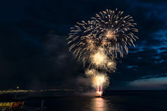 Festival 2017 de los fuegos artificiales Foto de archivo libre de regalías