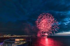Festival 2017 de los fuegos artificiales Foto de archivo