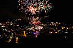 Festival de los fuegos artificiales Foto de archivo
