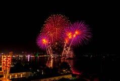 Festival de los fuegos artificiales en Pattaya Imagen de archivo