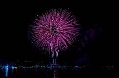 Festival de los fuegos artificiales en Pattaya Imágenes de archivo libres de regalías