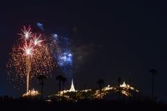 Festival de los fuegos artificiales en Tailandia Imágenes de archivo libres de regalías