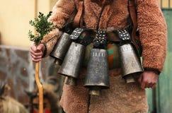 Festival de los juegos Surova de la mascarada en Breznik, Bulgaria Imagen de archivo
