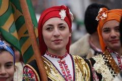 Festival de los juegos Surova de la mascarada en Breznik, Bulgaria Fotos de archivo libres de regalías