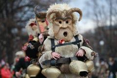 Festival de los juegos Surva de la mascarada en Pernik, Bulgaria fotografía de archivo libre de regalías