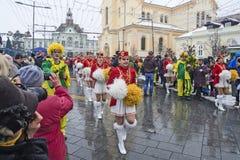 Festival de los majorettes en la calle fotos de archivo libres de regalías