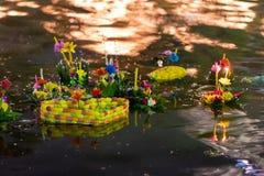 Festival de Loy Krathong fotos de stock royalty free