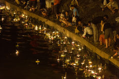 Festival de Loy Krathong Imagen de archivo libre de regalías