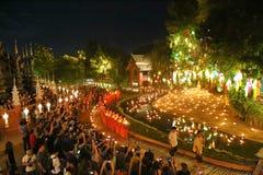 Festival de Loy Krathong en Wat Pan Tao Fotografía de archivo