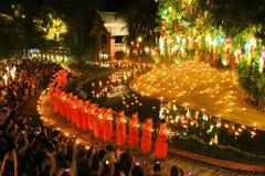 Festival de Loy Krathong en Wat Pan Tao Foto de archivo