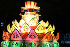 festival de loykratong Photo stock