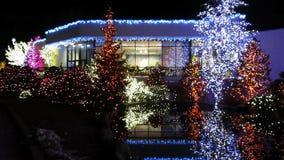 Festival de luces en diciembre almacen de metraje de vídeo
