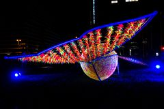 Festival de lumière, Berlin, Allemagne - Ernst Reuter Platz Photos stock