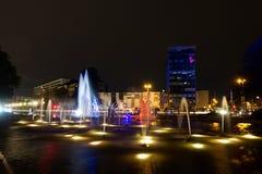 Festival de lumière, Berlin, Allemagne - Ernst Reuter Platz Photos libres de droits