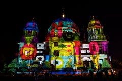 Festival de lumière, Berlin, Allemagne - les DOM de Berlinois Photographie stock libre de droits