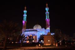 Festival de lumière de mosquée du Charjah Images stock