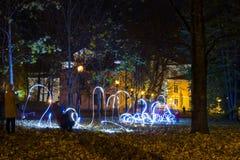 Festival de lumière de Tartu Photos stock