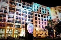 Festival de luz em Leipziger Platz, Berlim, Alemanha Fotos de Stock Royalty Free